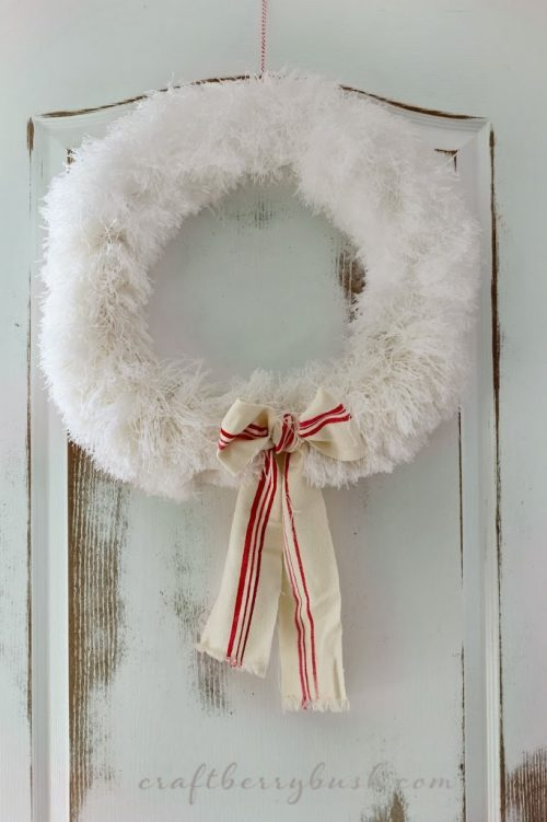 Dollar Tree Christmas Wreath Craft & Decorations