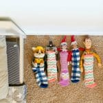 Elf on the Shelf Sleeping Bag in Socks