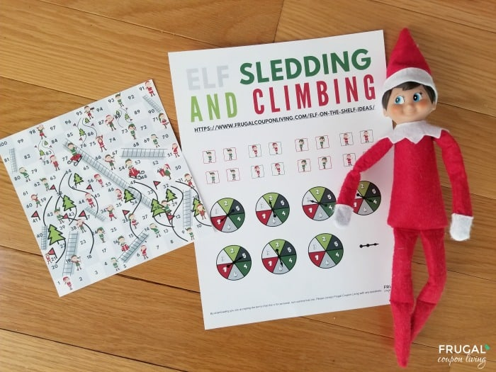 Elf Sledding and Climbing Game Board