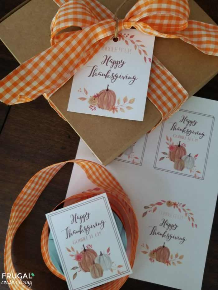 Gobble it Up Gift Tag Printable