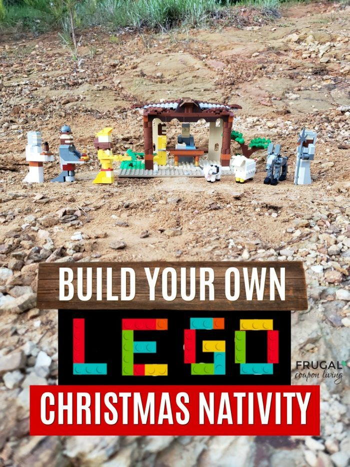 Build Your Own LEGO Christmas Nativity Set with Printable Challenge
