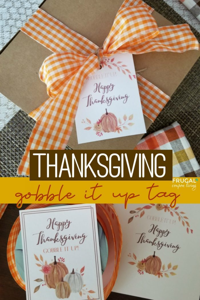 Gobble It Up Thanksgiving Gift Tags