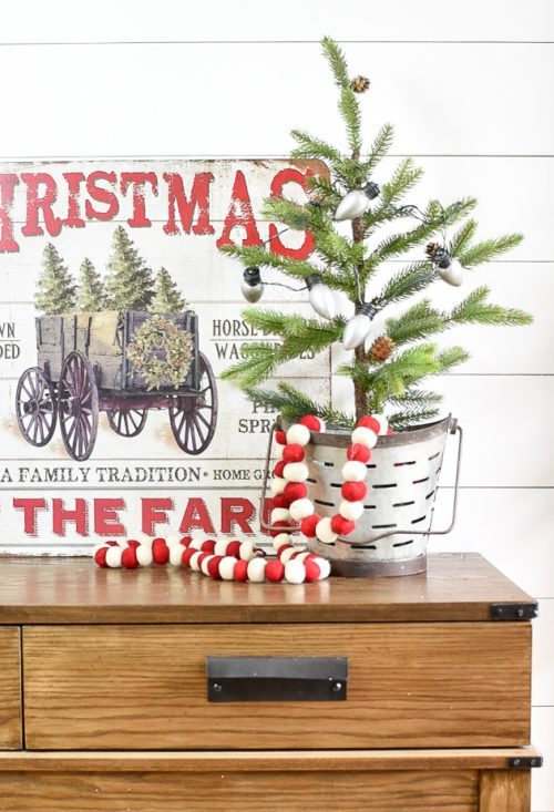 DIY Dollar Tree Christmas Decor Ideas & Light Up Vintage Christmas Lights