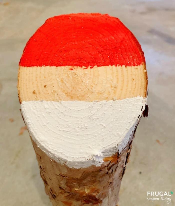 Santa Wood Logs Craft