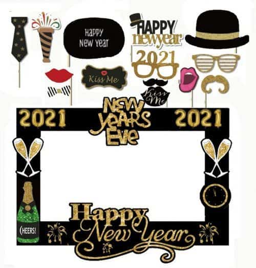 New Year's Eve Photo Booth & Activities for Kids