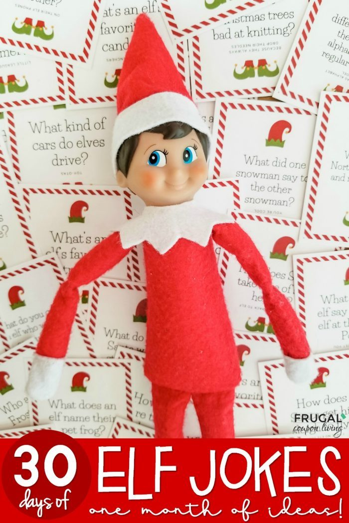 Funny Elf on the Shelf Jokes - 30 Days of Printables, One Month Covered