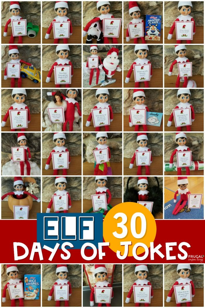 Silly Elf on the Shelf Jokes for Kids - 30 Days of Printables