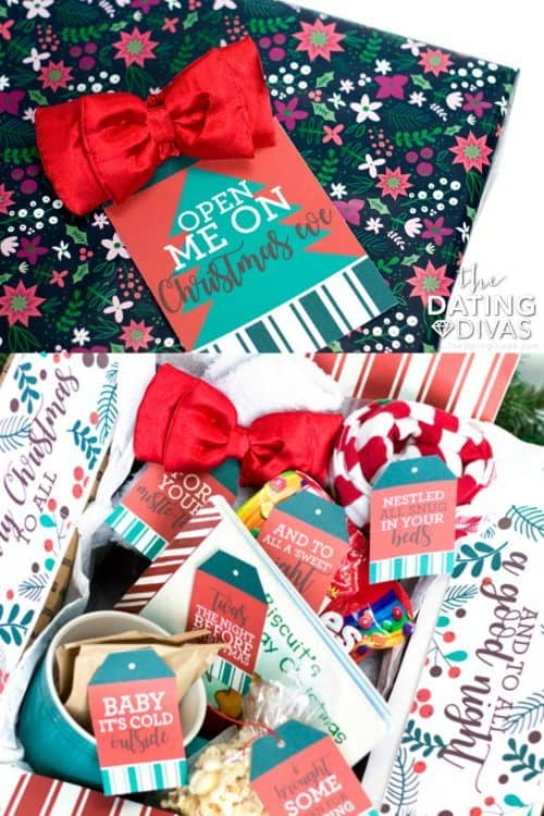 Christmas Eve Box with Printable Christmas Gift Tags