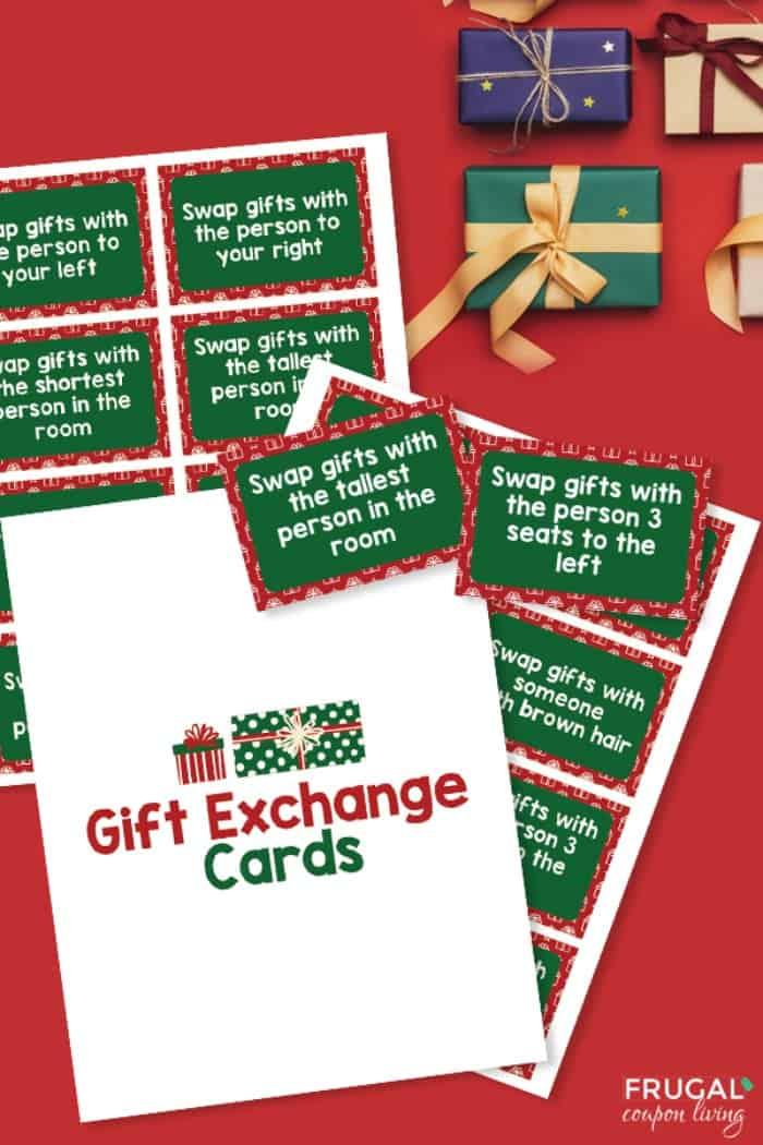Christmas Gift Exchange Printable PDF - Christmas White Elephant Game Directions