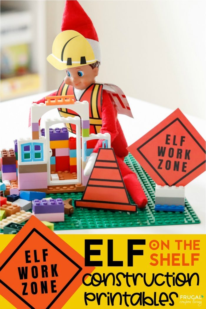 Elf Work Zone Elf on the Shelf Construction Costume & Props Printables