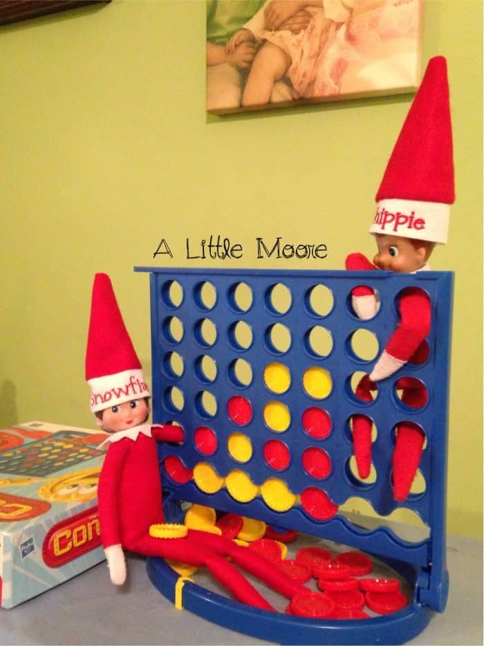 Elf on the Shelf Connect Four | Ideas for Two Elf Dolls