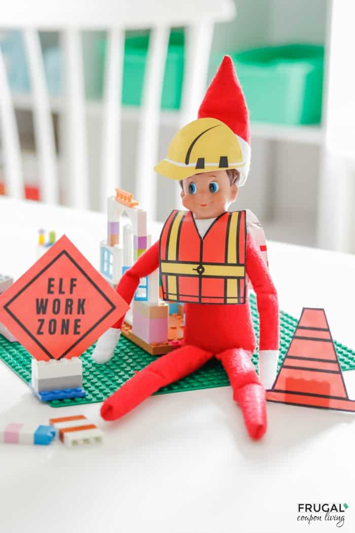 Elf on the Shelf Construction Zone with Construction Printables