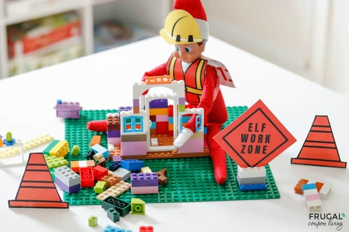Elf on the Shelf Construction Zone - Scout Elves at Play Construction Printables