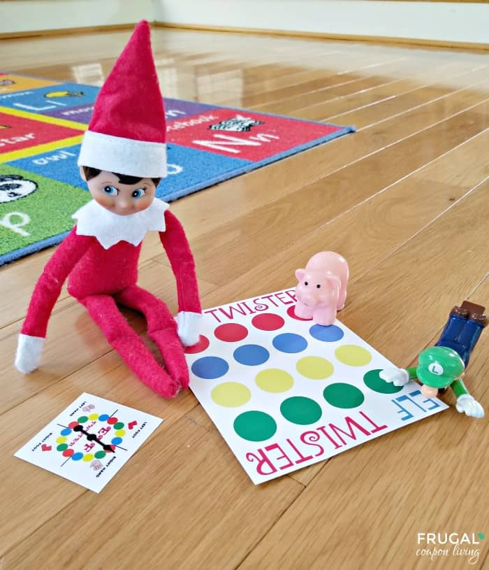 Elf on the Shelf Twister Board with Spinner