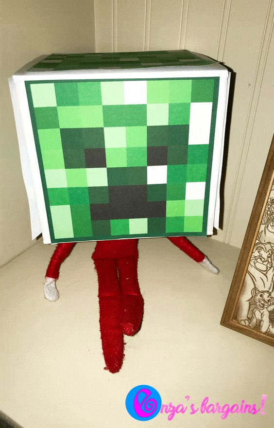 Elf on the Shelf Box Ideas | Elf Minecraft Printable