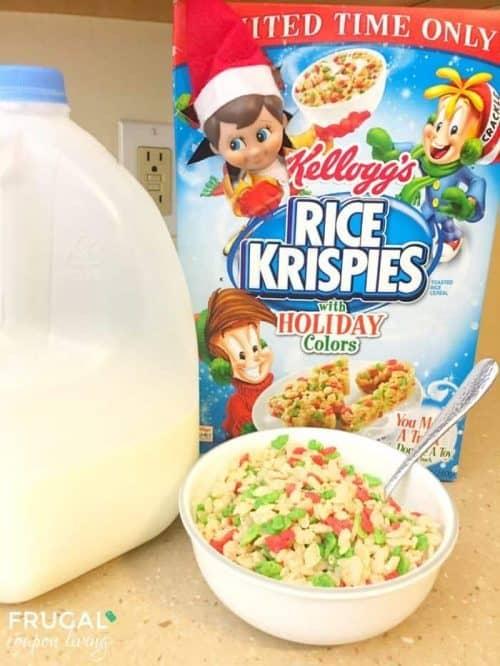 Elf on the Shelf Box Ideas + Rice Krispies Cereal Box