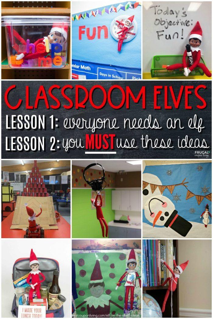 Classroom Elf on the Shelf Ideas for School