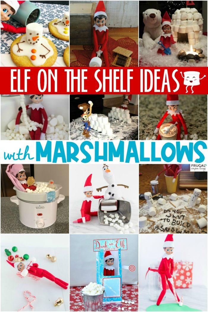 Elf on the Shelf Ideas with Marshmallows