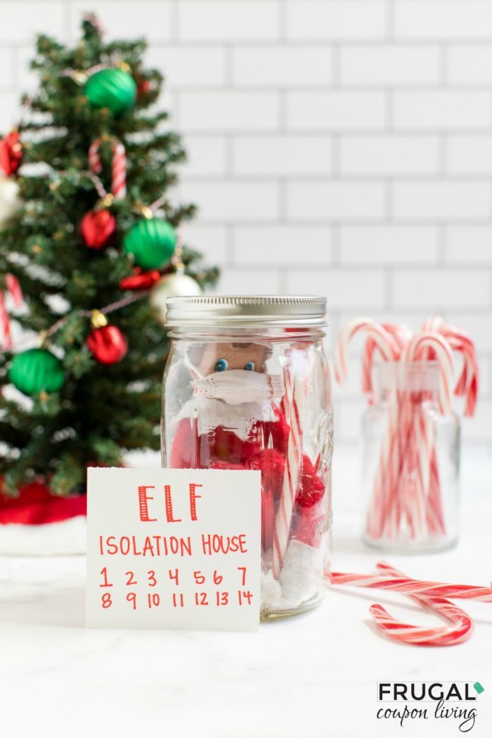 DIY Elf on the Shelf Quarantine Jar with Countdown | Elf on the Shelf In a Mason Jar