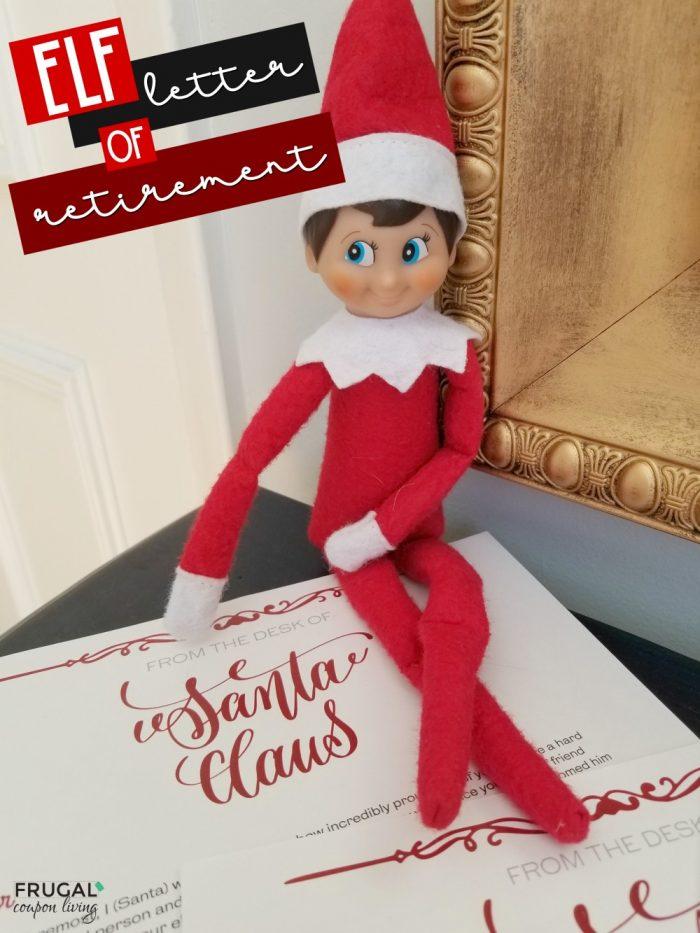 Good-Bye Elf on the Shelf Letter of Retirement Printable
