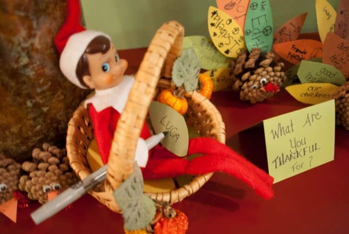 Thanksgiving Ideas for Elf on the Shelf Ideas | Elf Thankful List