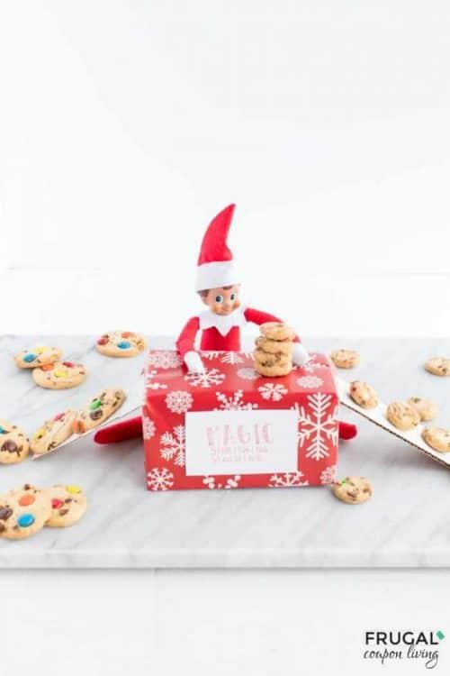 Elf on the Shelf Box Ideas + Magic Shrinking Machine Box Printable