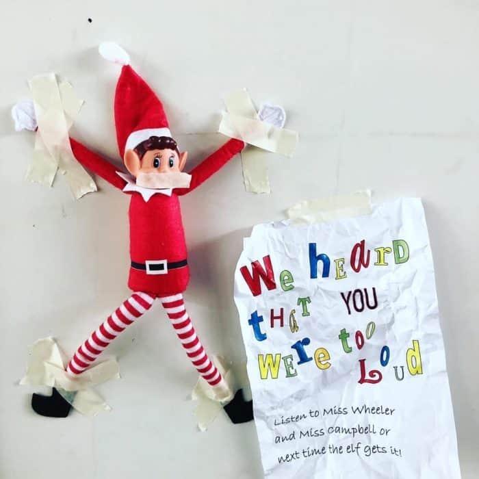 Elf on the Shelf Too Loud Note