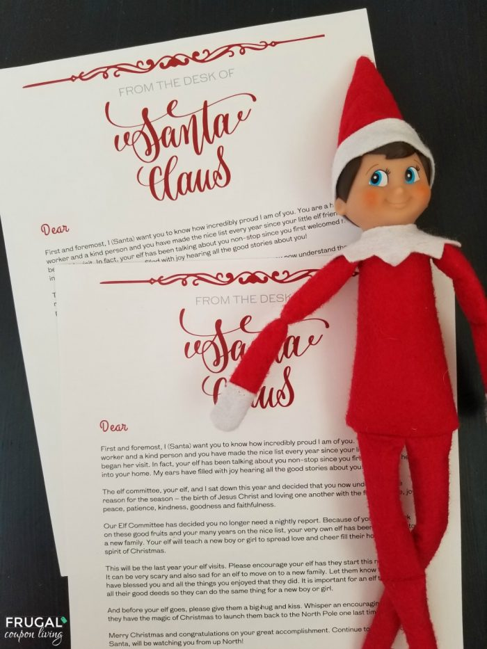 Goodbye Elf on the Shelf Christmas Tradition with Printable Retirement Letter