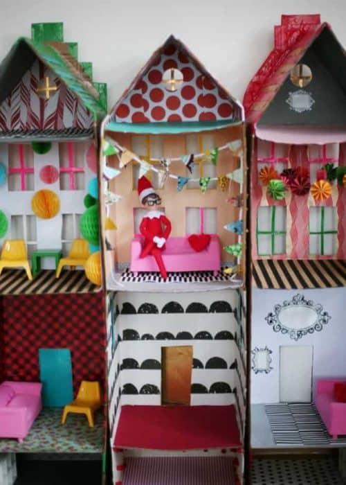 Elf on the Shelf Ideas with Boxes | DIY Elf on the Shelf House
