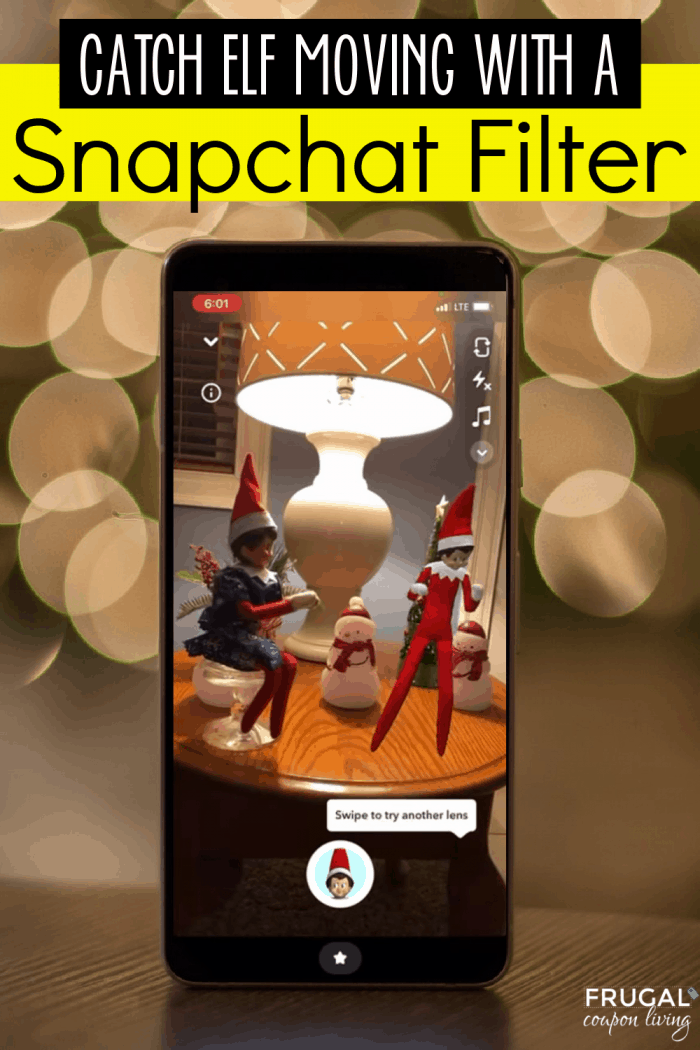 Dancing Elf on the Shelf Snapchat Filter | Catch Elf Moving!