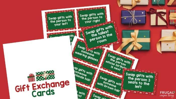 Christmas Gift Exchange Game Printable PDF