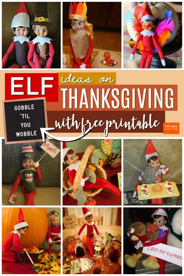 Thanksgiving Elf on the Shelf Ideas