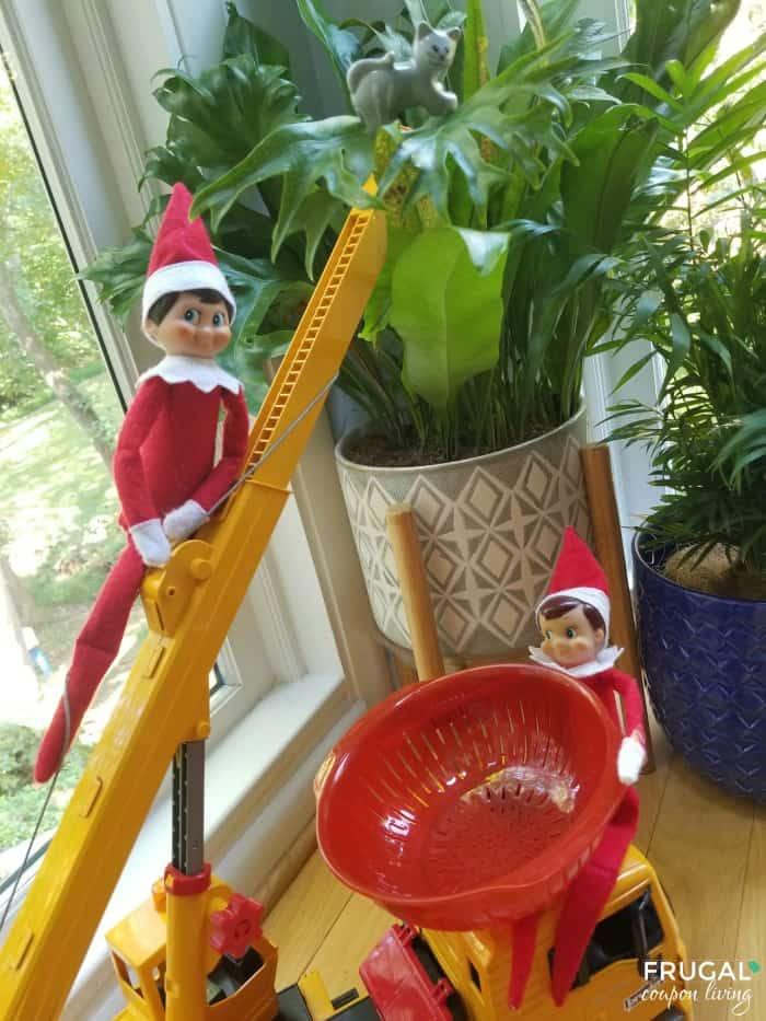 Elves Saves a Cat from the Tree | Elf on a Shelf Ideas with Two Elves
