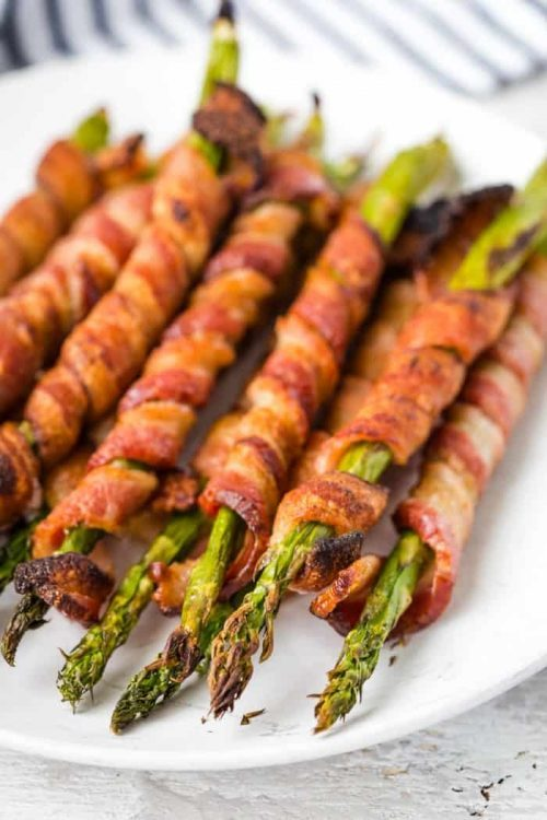 Bacon Wrapped Asparagus Appetizers for a Holiday Party