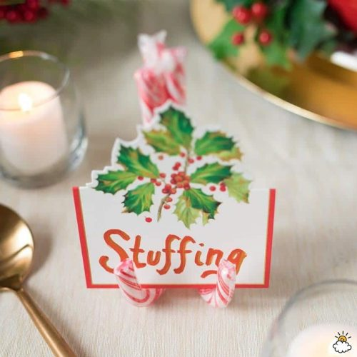 Candy Cane Place Card Holders & Holiday Hosting Ideas