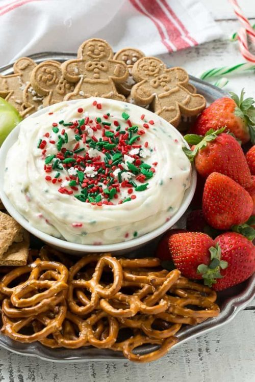 Christmas Cookie Dip for a Holiday Party