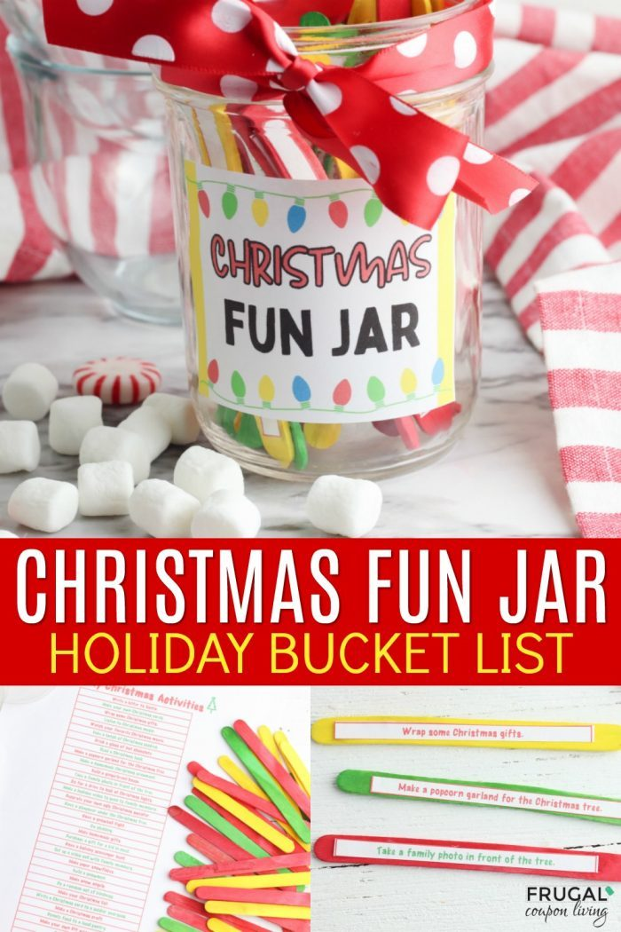 DIY Christmas Fun Jar Activity - Christmas Bucket List Ideas Printable