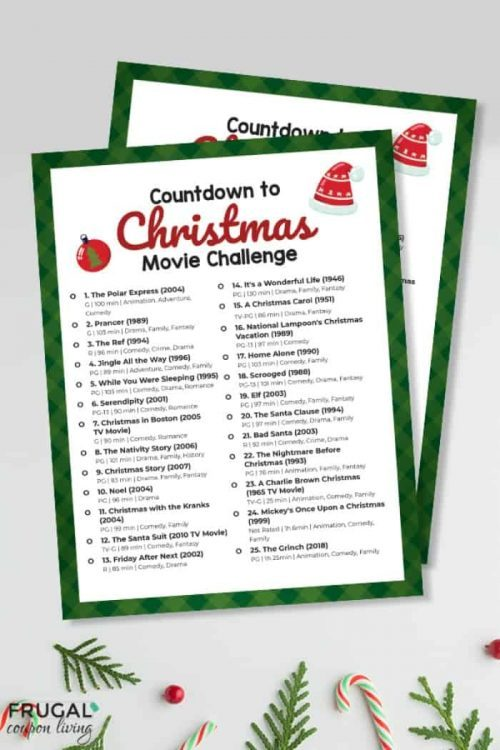 Christmas Movie List PDF