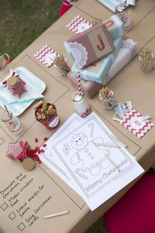 Christmas Party Table for Kids