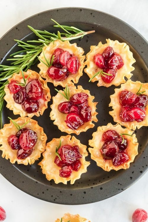 Cranberry Brie Bites Appetizer Christmas Party