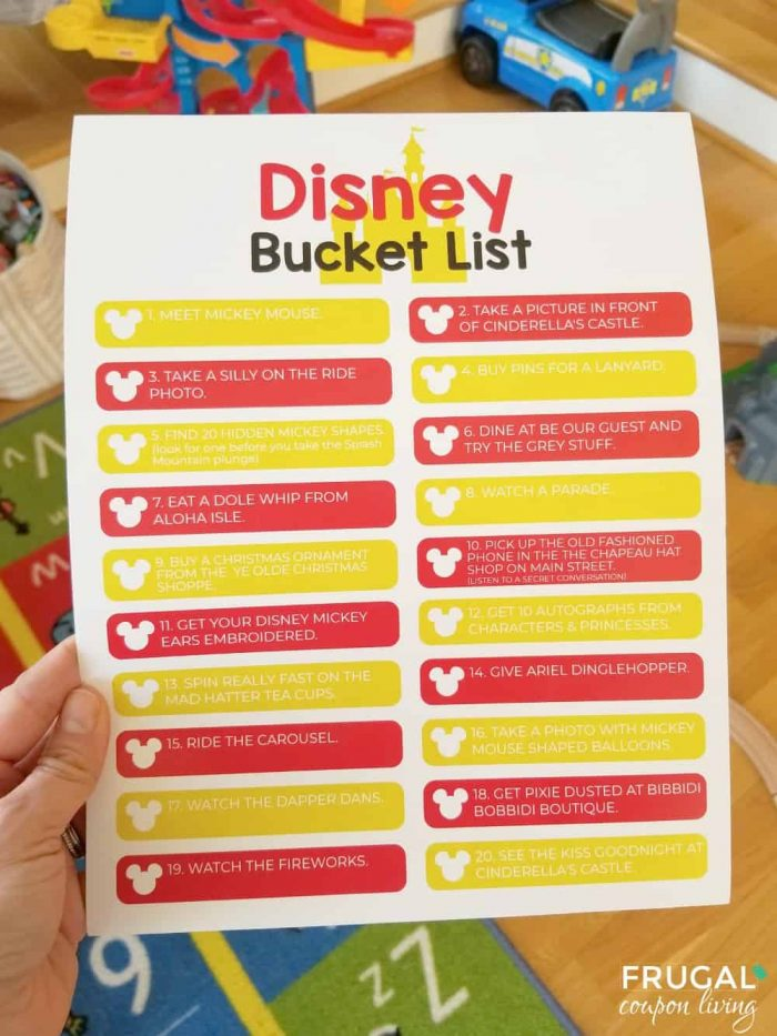 Disney World Bucket List Ideas for Families