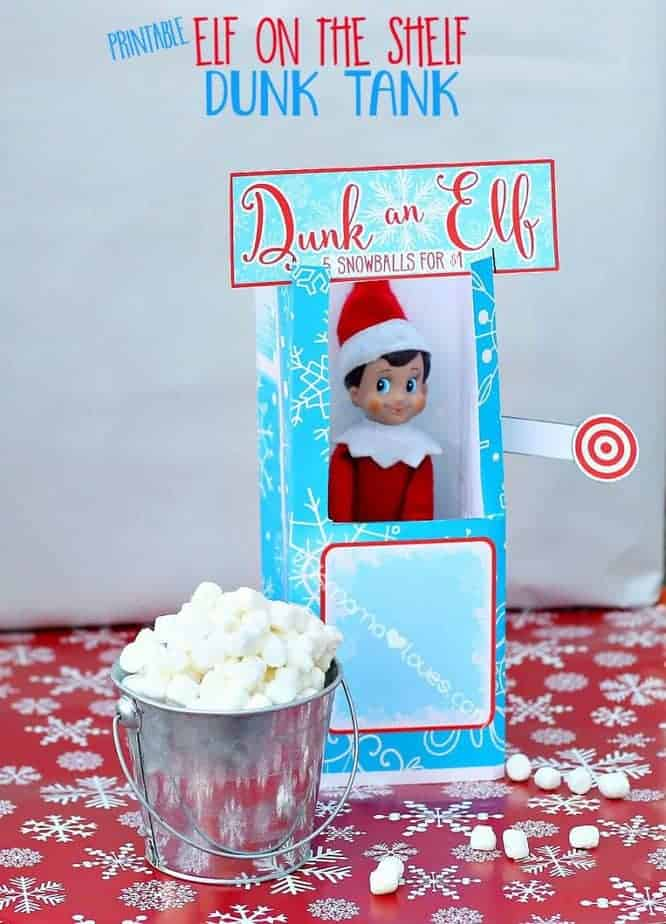Elf on the Shelf Dunkin Booth Printable
