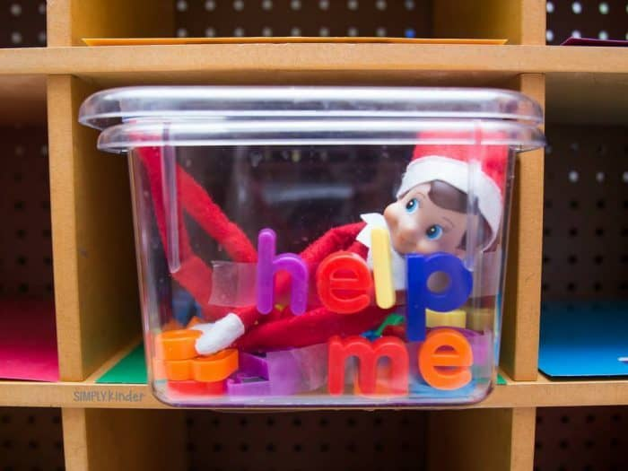 Elf on the Shelf Classroom Ideas - Help Me Magnetic Letters