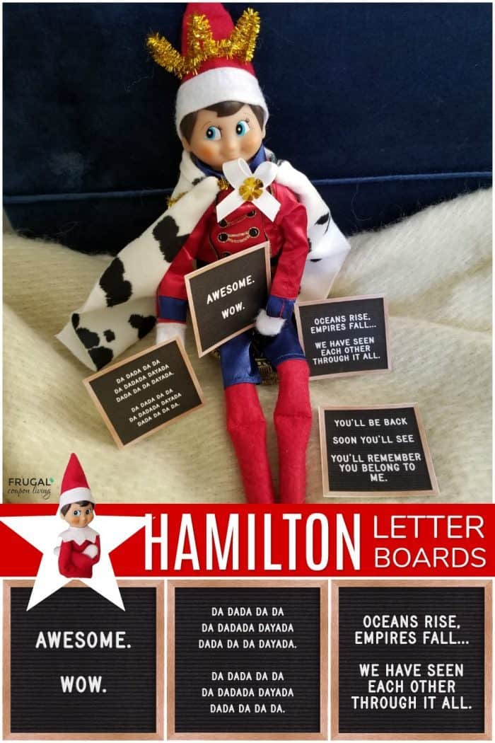 Elf on the Shelf Hamilton Costume + King George Quotes Printable