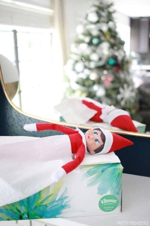 Elf Box Ideas | Elf on the Shelf Sleeps in a Kleenex Box