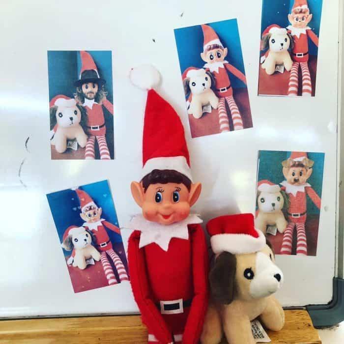 Elf on the Shelf Selfie Idea for a Classroom
