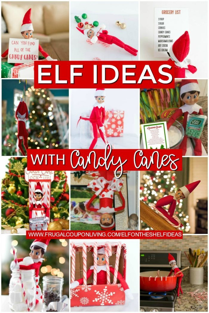 Candy Cane Elf on the Shelf Ideas