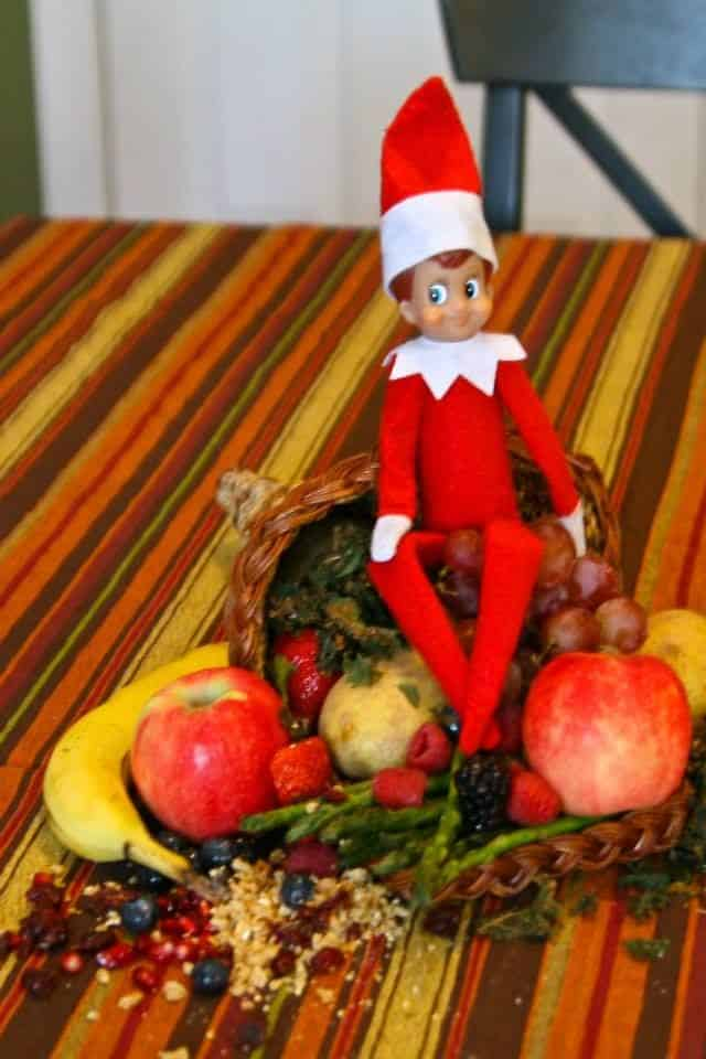 Thanksgiving Ideas for Elf on a Shelf Ideas | Elf Cornucopia Harvest