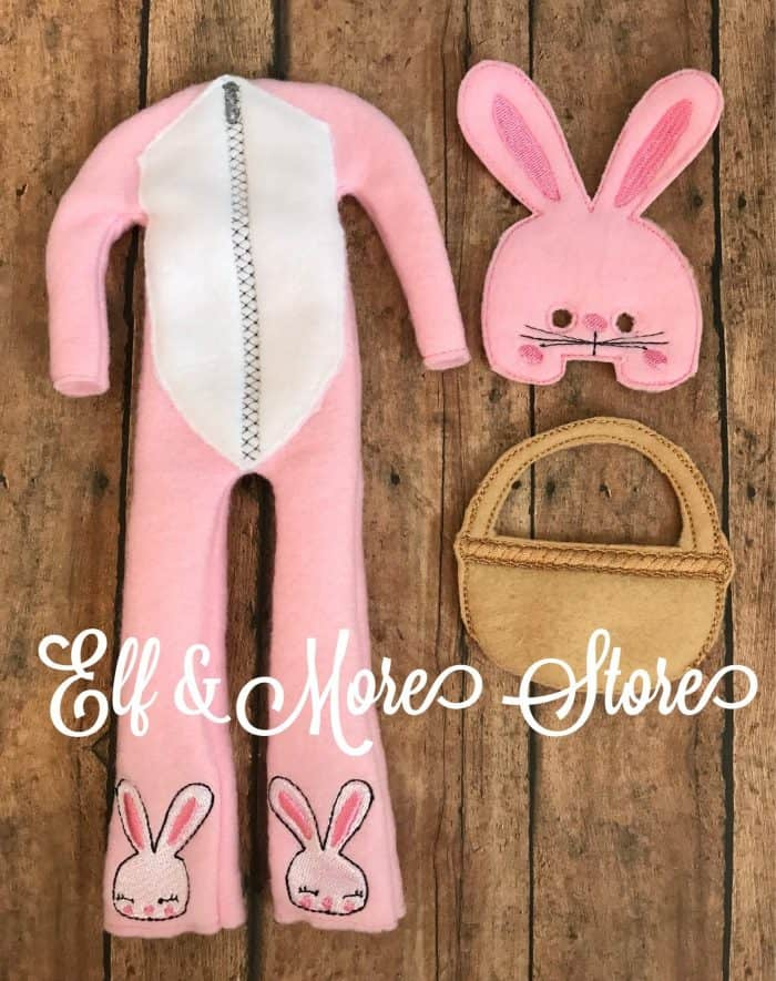 Elf on the Shelf Easter Bunny Costume