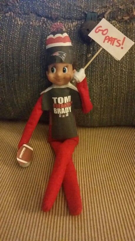 Elf on a Shelf Ideas for Thanksgiving | Elf Football Uniform
